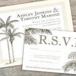 Beach Invitation Palm Tree - Printa..