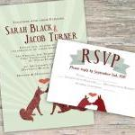Rustic Fox Invitation - Printable D..