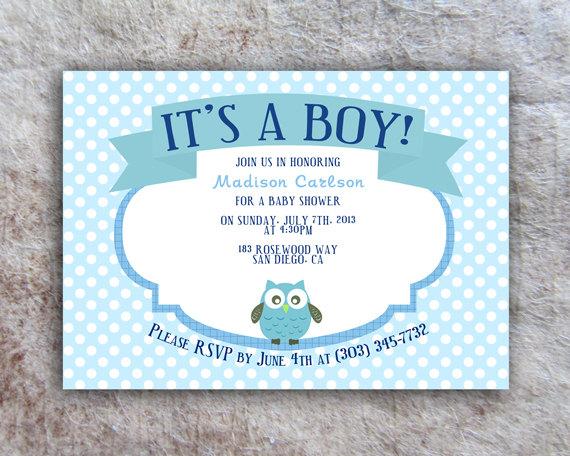 Printable Baby Shower Invitation - DIY