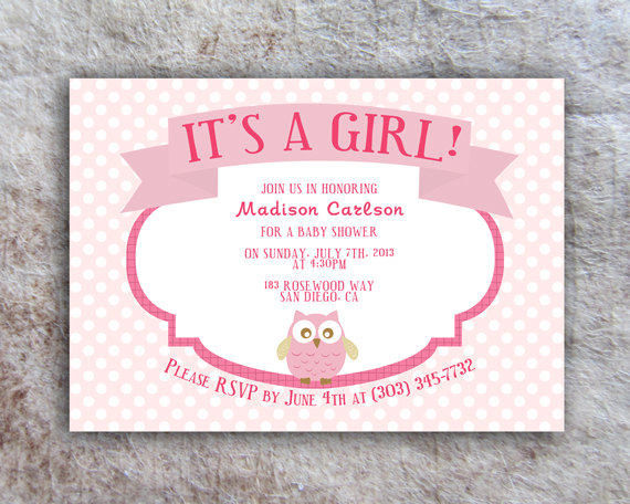 Printable Owl Baby Shower Invitation Diy
