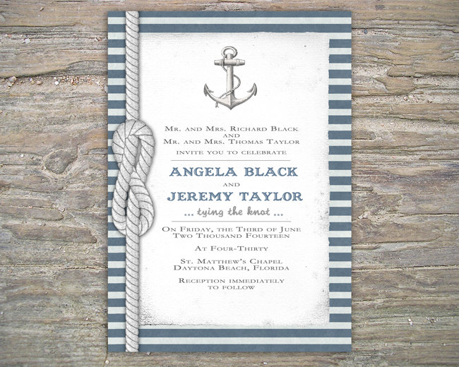 nautical invitation diy printable invite for wedding or event on