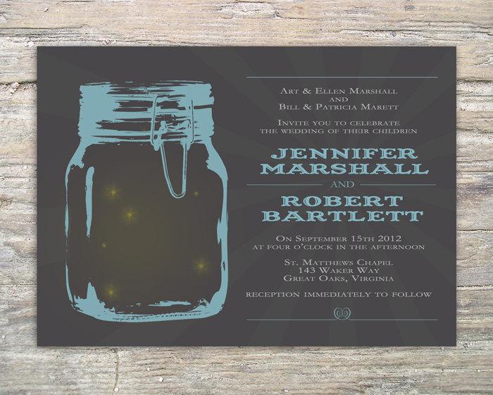 Mason Jar Invitation - Printable for wedding or event