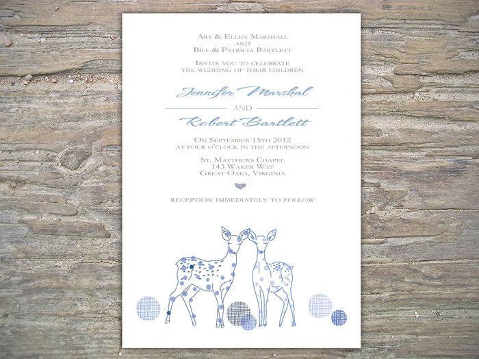 Winter Invitation - Deer DIY Printable Invite