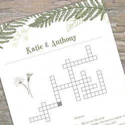 Custom Crossword - printable for wedding/bridal shower/baby shower