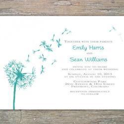 Dandelion Invitation - Printable DIY for wedding or event