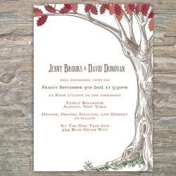 Autumn Rustic Tree Invitation - Printable DIY for Fall wedding or event