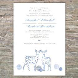 Winter Invitation - Deer DIY Printable Invite