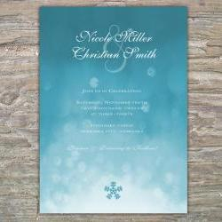 Winter Ombre Invitation - snow DIY