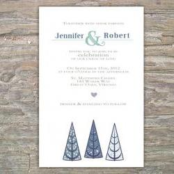 Winter Invitation - tree DIY Printable Invite